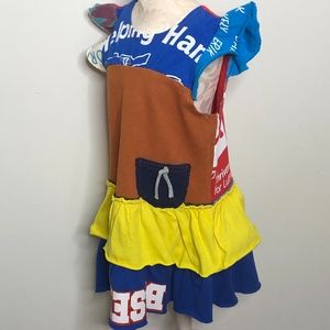 Sorbet Tiered Multi Color Ruffle Toddler Dress  2T